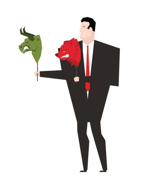 royalty free cartoon of the red bull stock symbol clip art vector