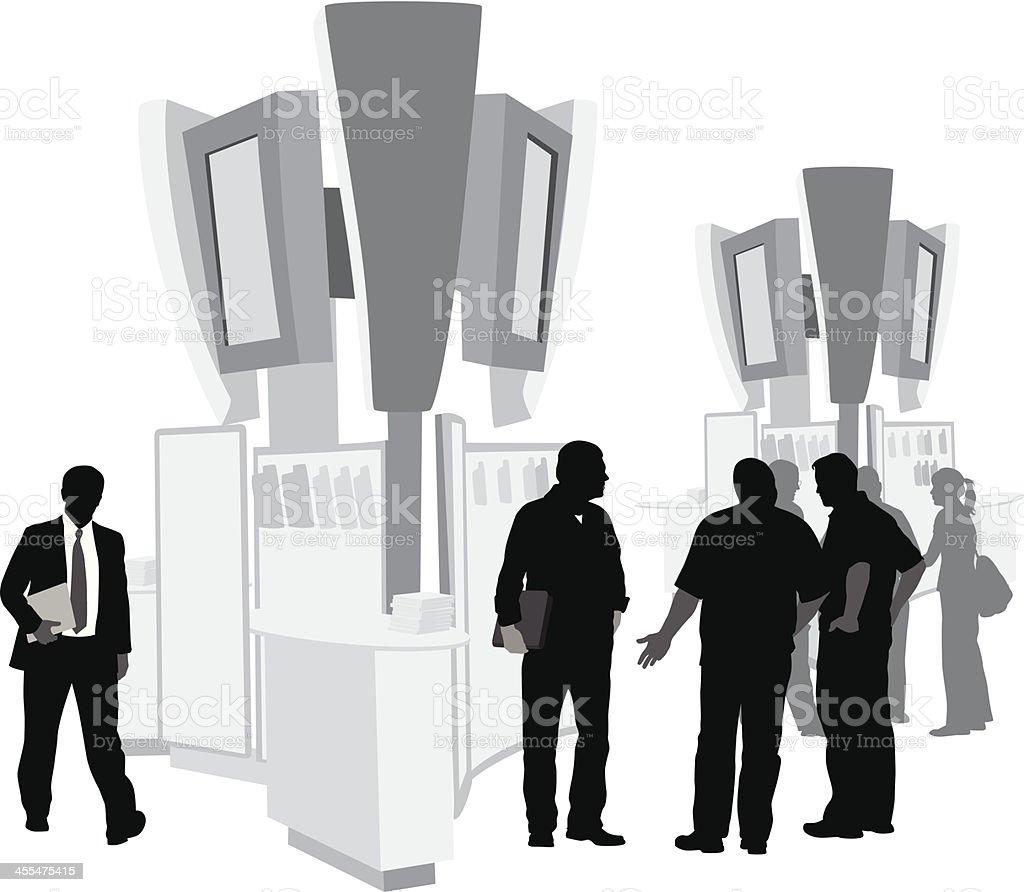 Tradeshow Wares Vector Silhouette vector art illustration