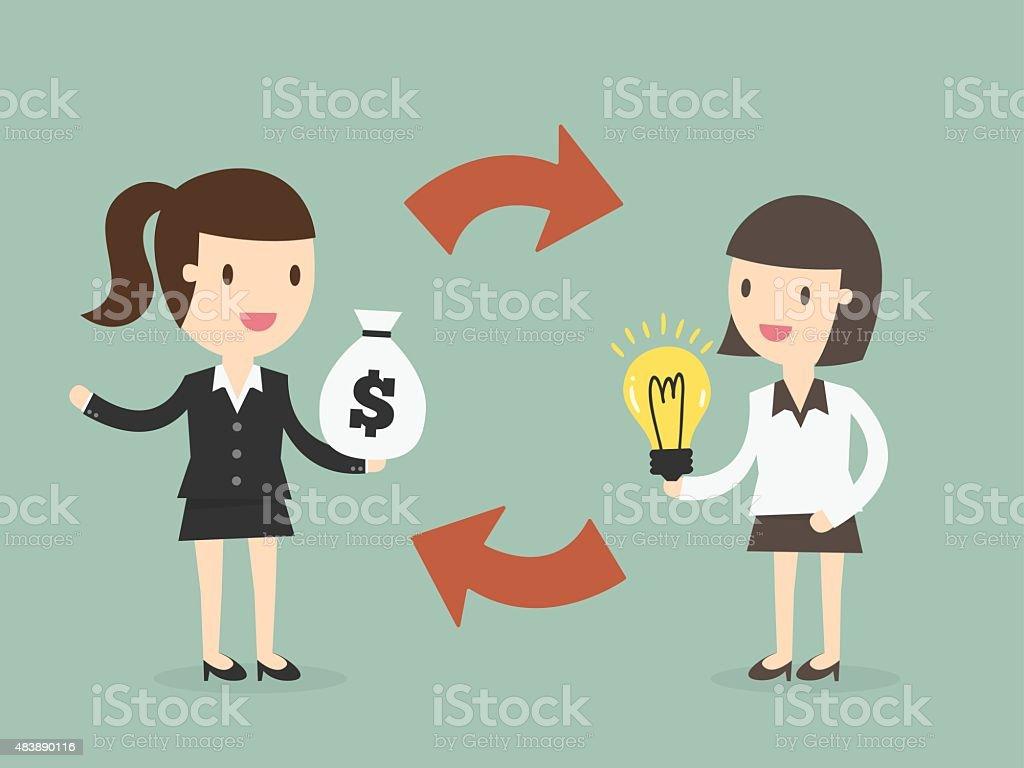 Trading vector art illustration