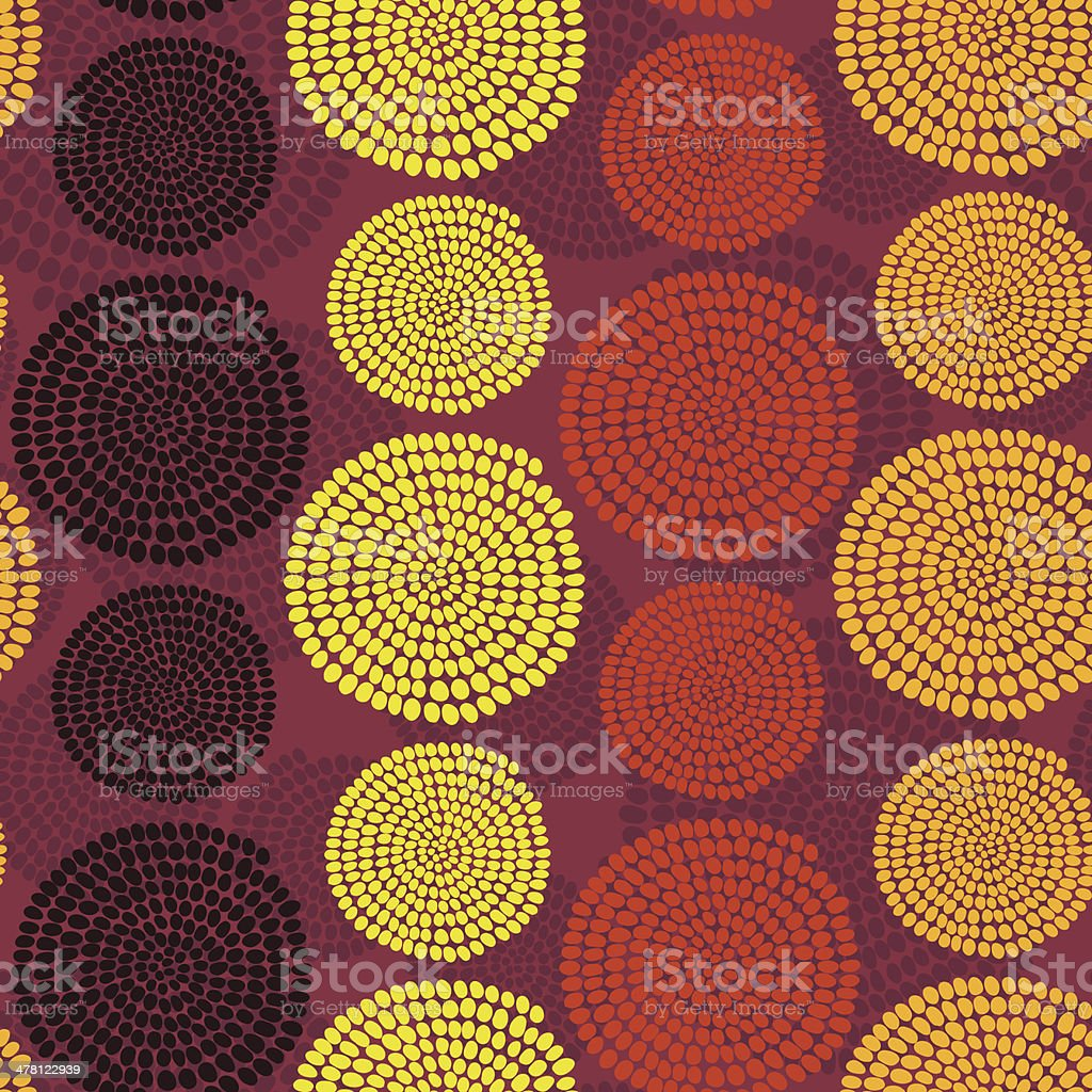 Africana tradicional ornamentação com espirais.  Vetor sem costura padrão. - ilustração de arte em vetor