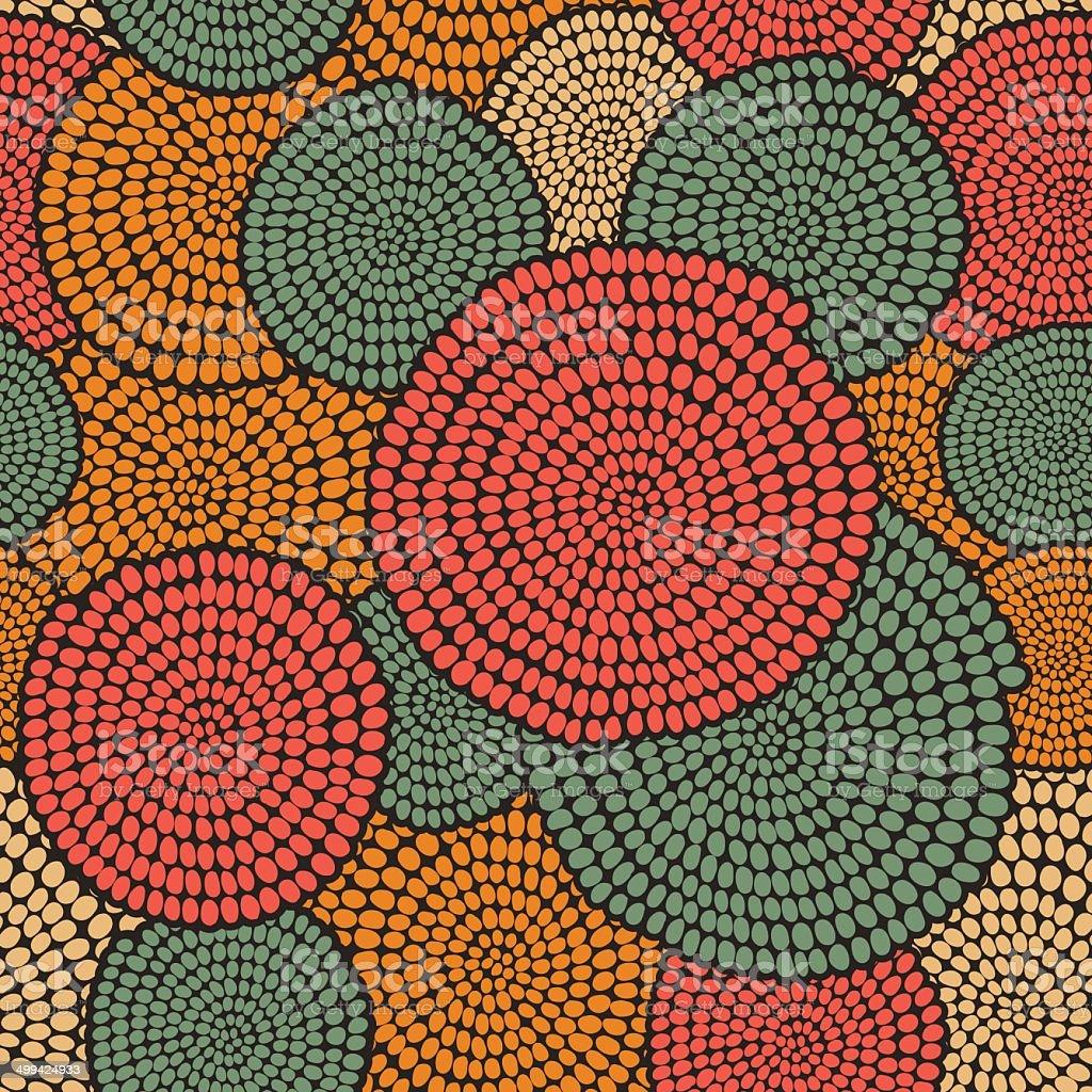 Traditionelle afrikanische Schmuckteil mit warmen SCHNÖRKEL.  Nahtloser Vektor-Muster. – Vektorgrafik