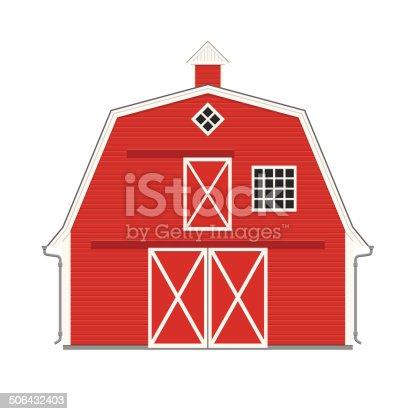 rouge grange touche am ricaine traditionnelle stock vecteur libres de droits 506432403 istock. Black Bedroom Furniture Sets. Home Design Ideas