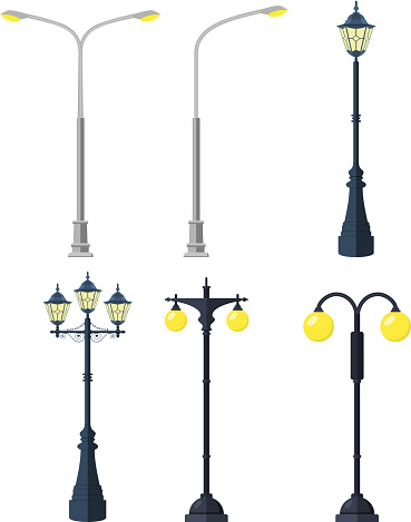 Traditional and Modern Outdoor Lamp Posts