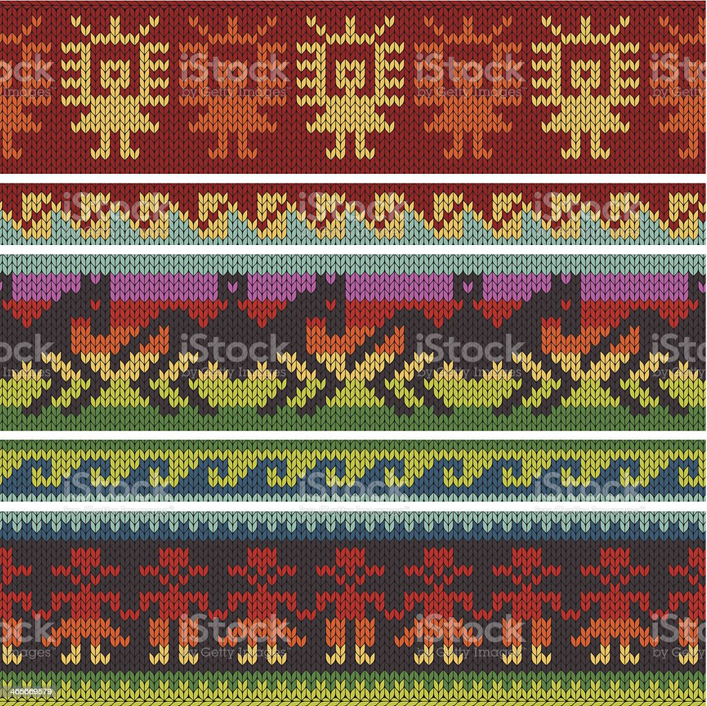 Traditional Andean Knitting Patterns Stock Illustration