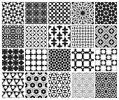 Traditional Arabic Islamic Background. Mosque decoration elements. Seamless pattern set.