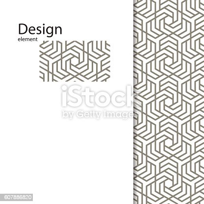 Traditional  Arabic ornament seamless for your design.  Geometric pattern for laser cutting. Laser glass engraving. Desktop wallpaper, interior decoration, graphic design. Vector.  Background .