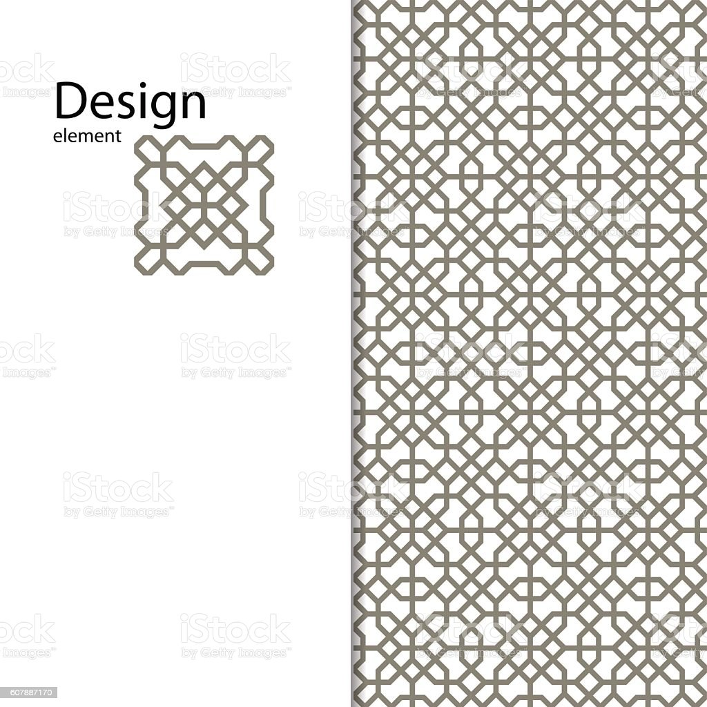 Traditional  Arabic ornament seamless for your design. Vector.  Background vector art illustration