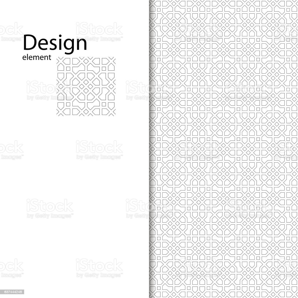 traditional arabic seamless ornament geometric pattern for