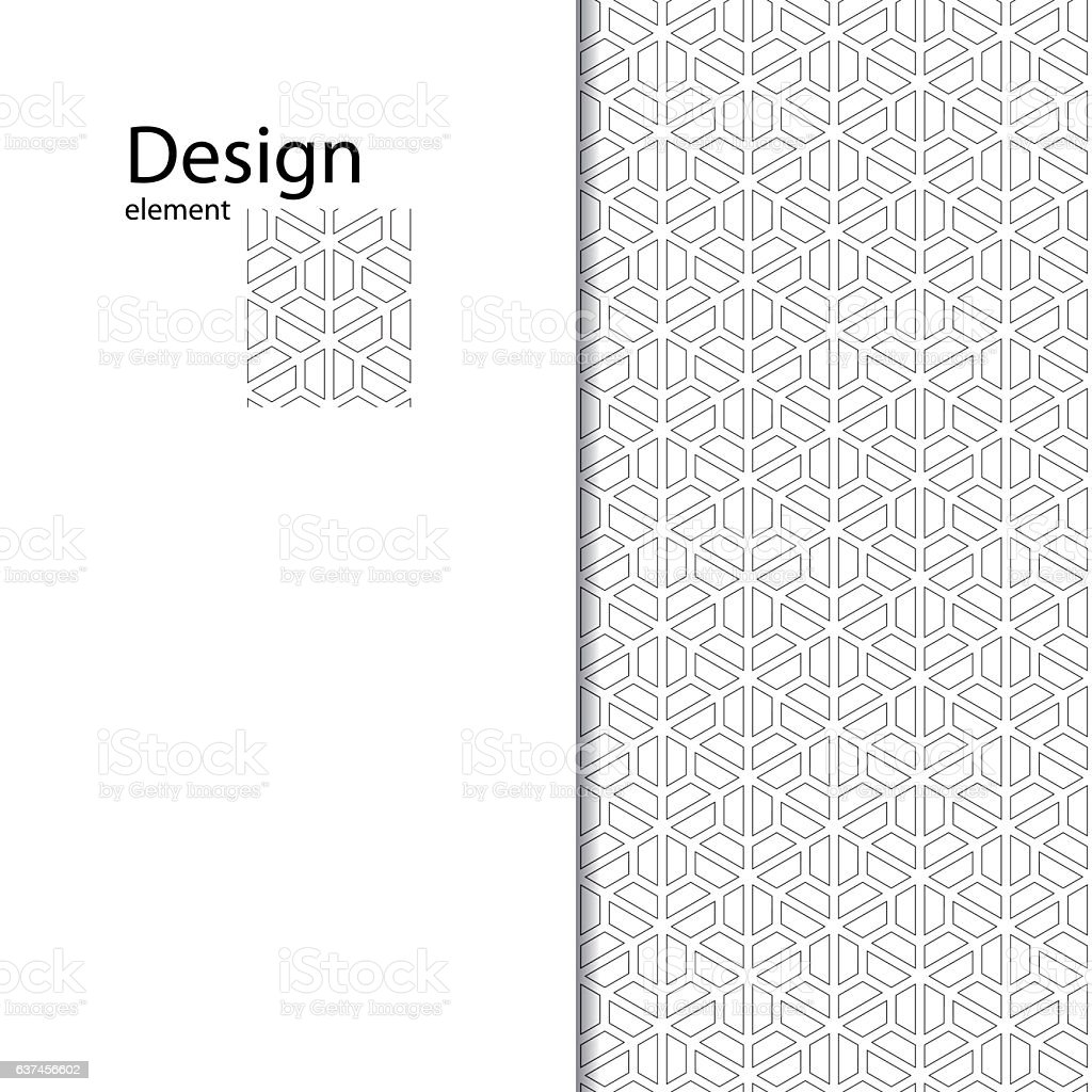Traditional Arabic seamless ornament. Geometric pattern for laser cutting. vector art illustration