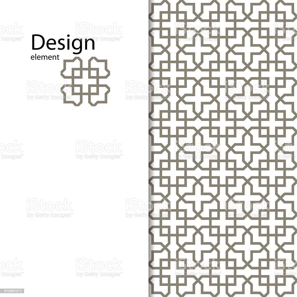 Traditional Arabic seamless ornament.  Vector.  Backgroun. - ilustração de arte em vetor