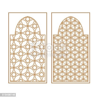traditionelle arabische fenster und t ren muster vektorset stock vektor art und mehr bilder von. Black Bedroom Furniture Sets. Home Design Ideas