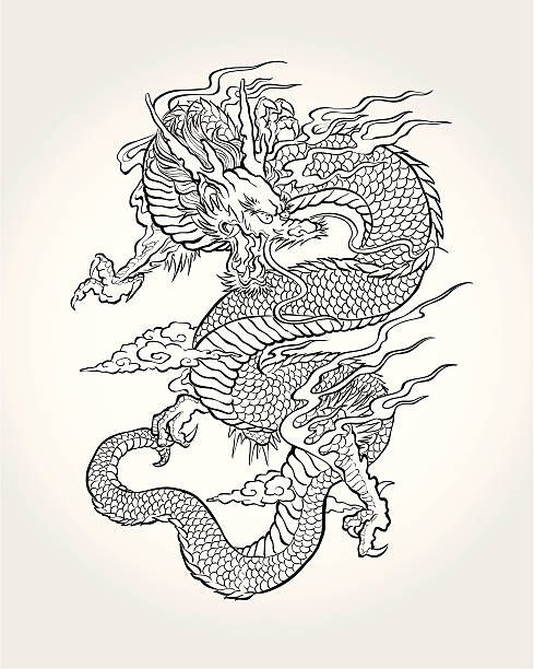 Dragon asiatiques traditionnels - Illustration vectorielle