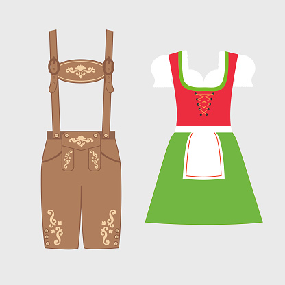 Traditional austrian and bavarian costume