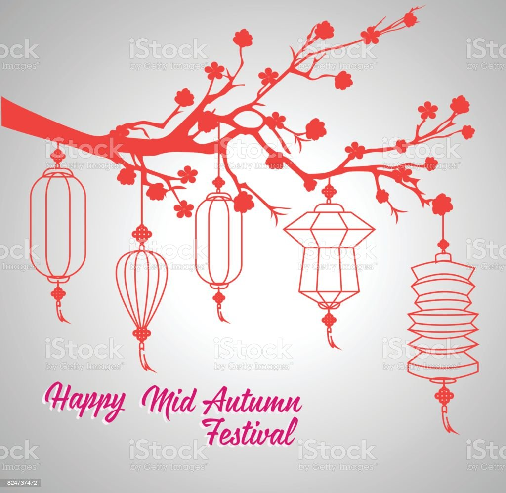 da1f8da7e Traditional background for traditions of Chinese Mid Autumn Festival or Lantern  Festival - Illustration .