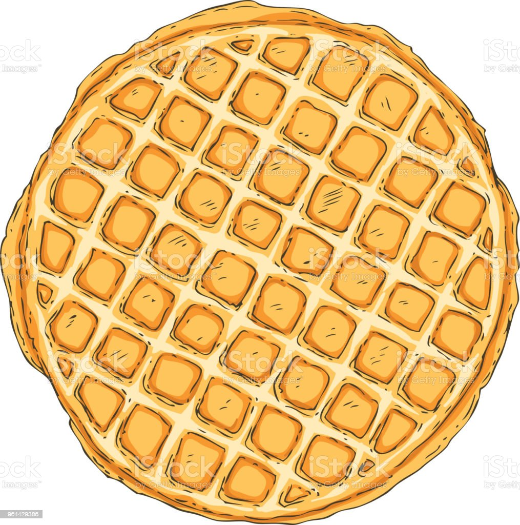 Traditional Belgian Waffle - Royalty-free Baked stock vector
