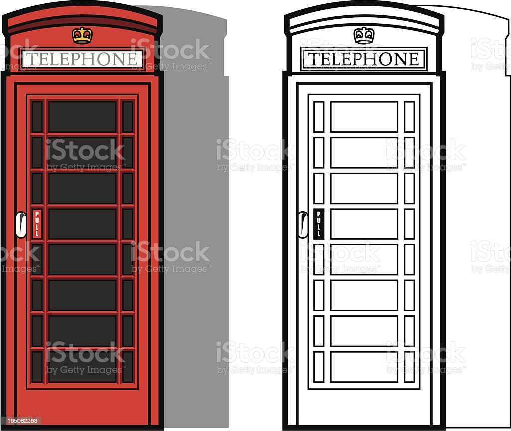 Traditional British Phone Box royalty-free stock vector art