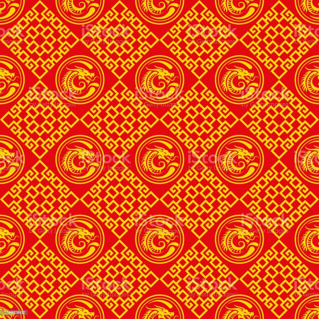 繁体字中国語アジアのフレーム パターンオリエンタルスタイルの赤い壁紙パターンシームレスなパターンアジアンスタイルの装飾 お祝いのベクターアート素材や画像を多数ご用意 Istock