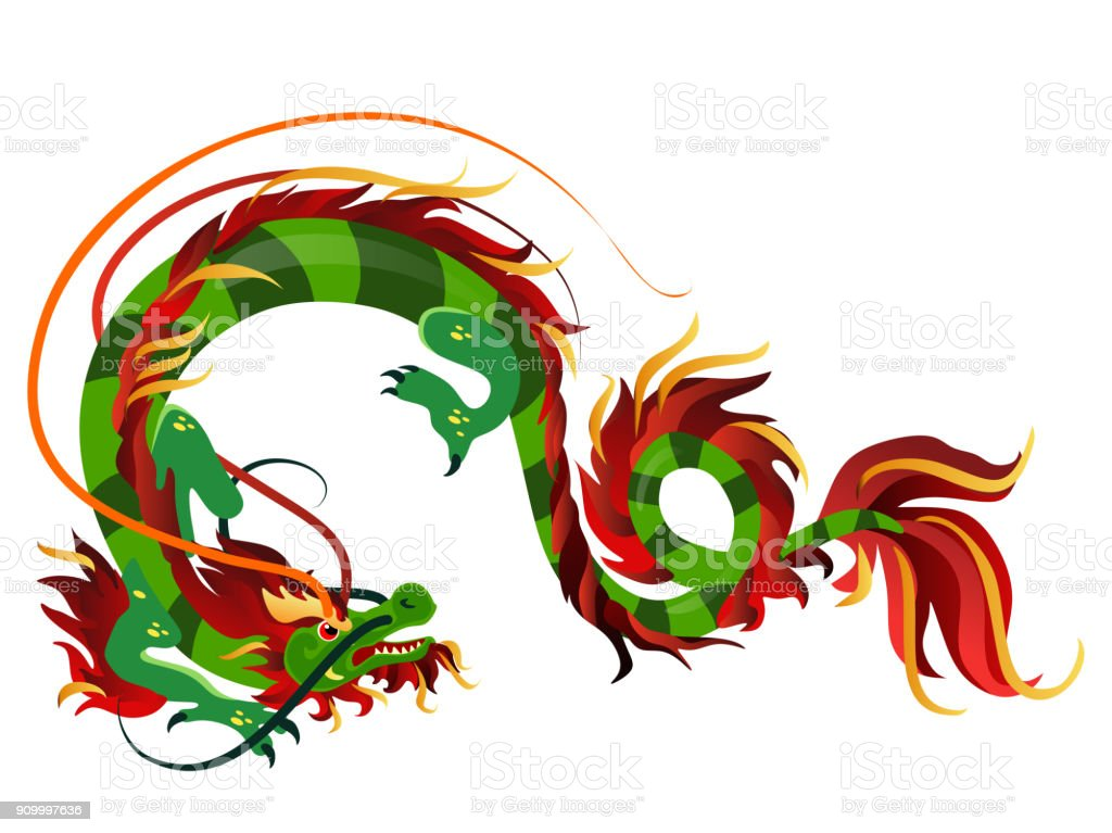 Traditional Chinese Dragon Ancient Symbol Of Asian Or China Culture