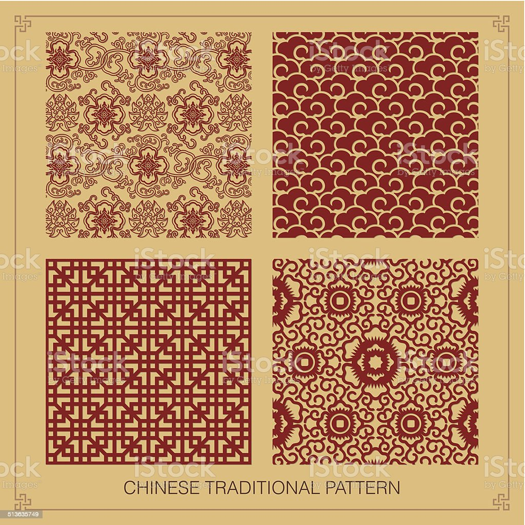 Traditional Chinese Pattern vector art illustration