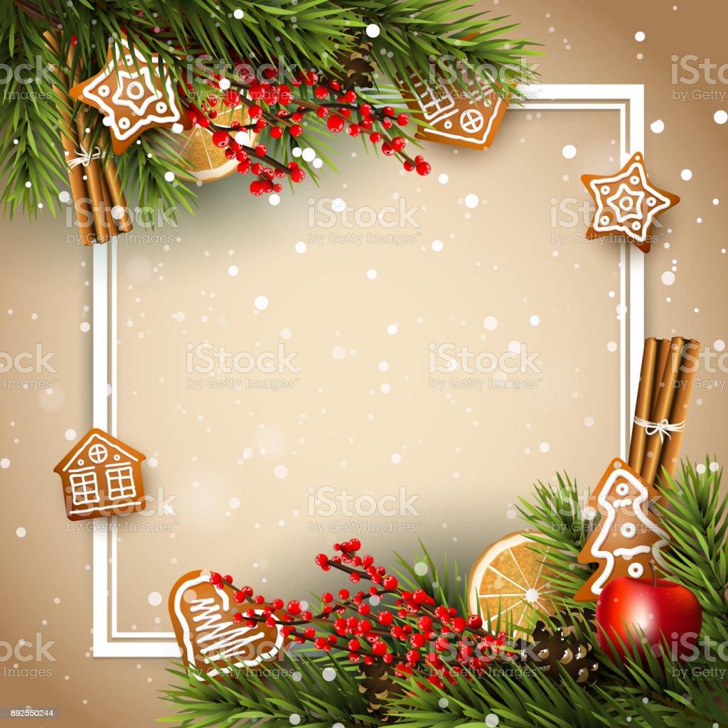 traditional christmas background stock illustration