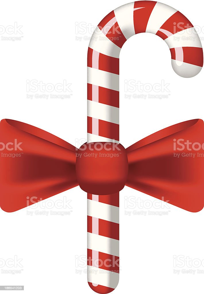 Traditional christmas candy cane royalty-free stock vector art