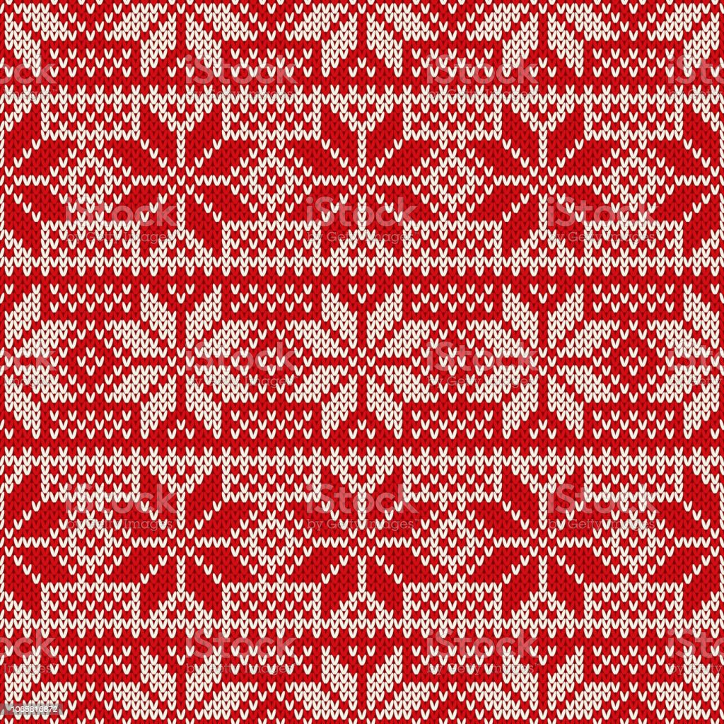4717128148ec Traditional Christmas Knitted Pattern with Snowflakes. Wool Knitting  Seamless Sweater Design - Illustration .