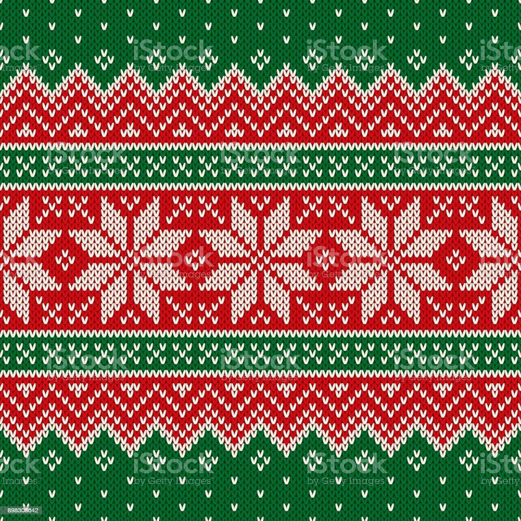 Ilustración de Navidad Tradicional Diseño De Suéter De Lana De Tejer ...