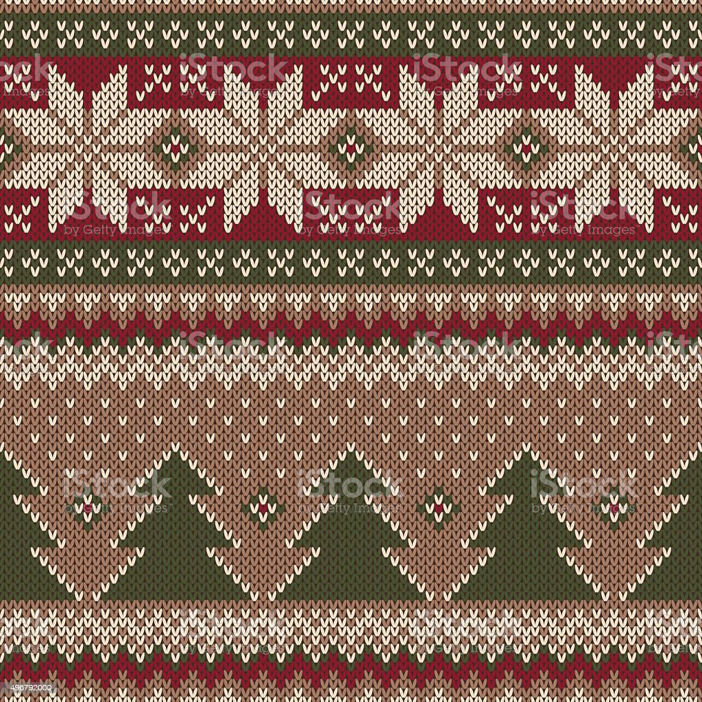 9bfebb9f8ab5 Traditional Christmas Sweater Design Seamless Knitted Pattern Stock ...