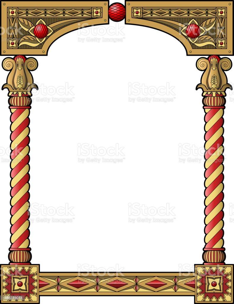 Traditional column frame vector art illustration