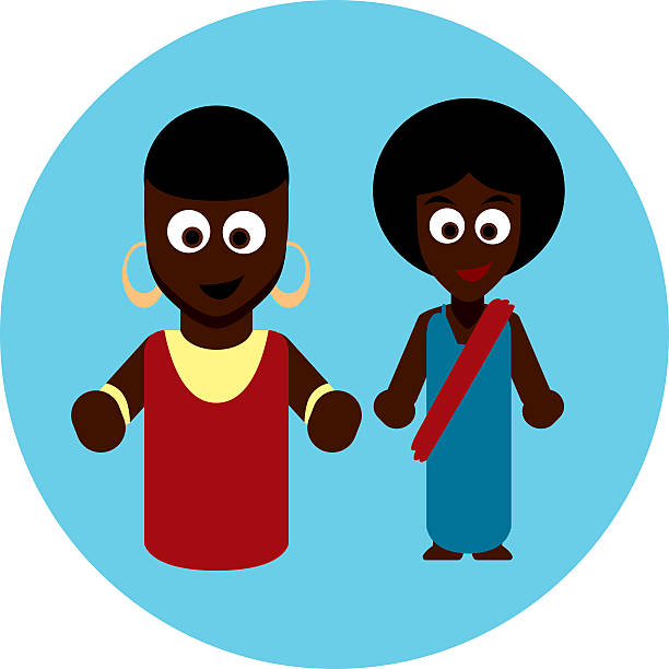 Traditional costumes icon - Africa vector art illustration