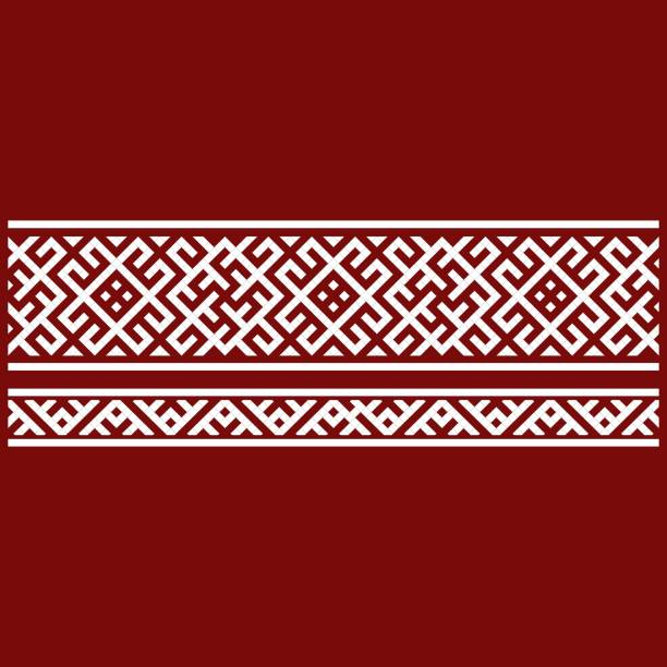 Traditional embroidery. Vector illustration of ethnic seamless ornamental geometric patterns for your design Traditional embroidery. Vector illustration of ethnic seamless ornamental geometric patterns for your design. pacific dogwood stock illustrations