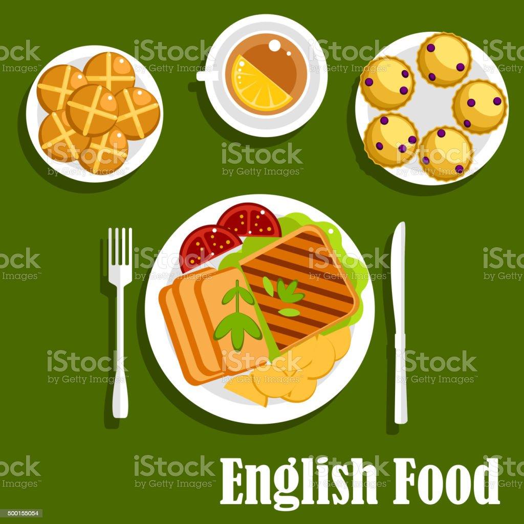 Cucina Tradizionale Cucina Inglese Pranzo - Immagini vettoriali ...
