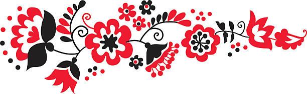 traditional european ukrainian ornament. rustic floral compositi - 烏克蘭 幅插畫檔、美工圖案、卡通及圖標
