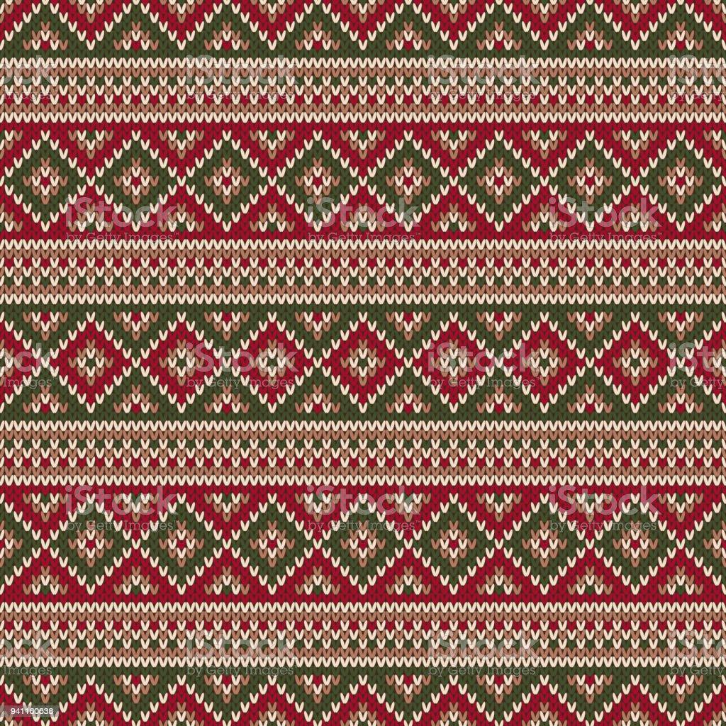 traditionelle fair isle stil gestrickt muster weihnachten und neujahr pullover design winter urlaub stricken - Fair Isle Muster