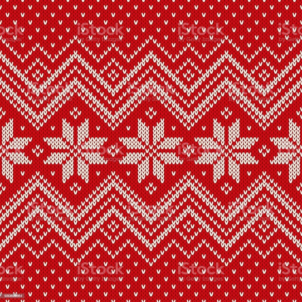 Traditionell Fair Isle Stil Stickning Mönster Sportlovet Sömlös Stickad Tröja Design vektorgrafik och fler bilder på Abstrakt