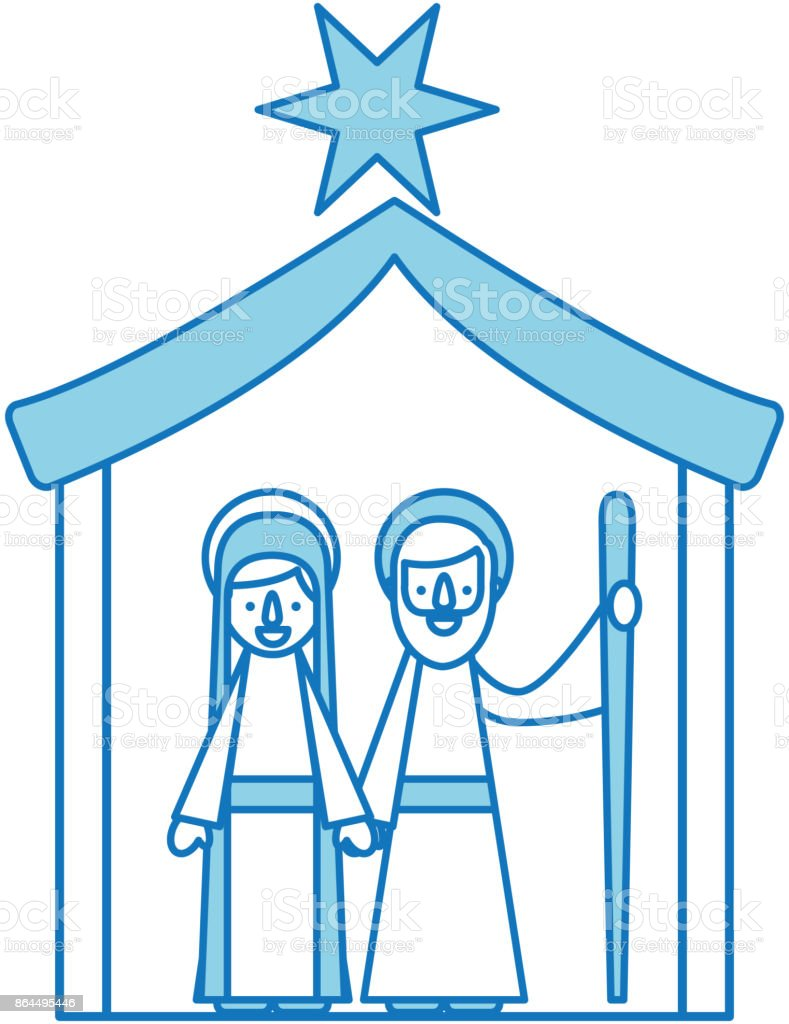 traditional family christmas manger scene virgin mary and saint joseph royalty free traditional family christmas