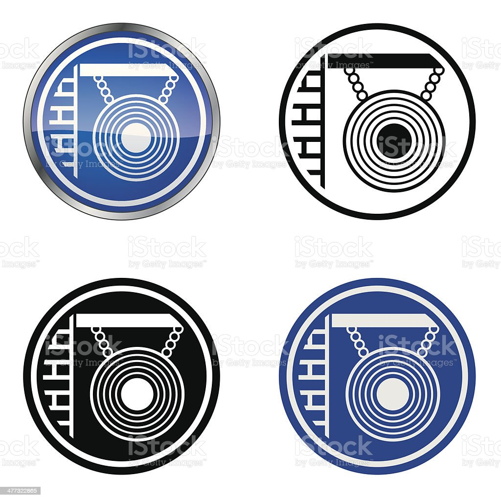Traditional Hairdressers And Barbers Trade Symbol Stock Vector Art