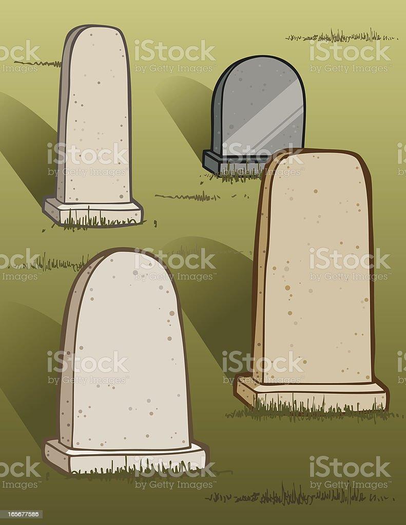 Traditional Headstones royalty-free stock vector art