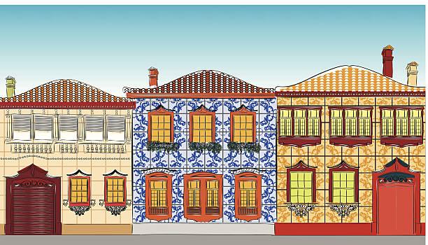 ilustrações de stock, clip art, desenhos animados e ícones de casas tradicionais em portugal - aveiro
