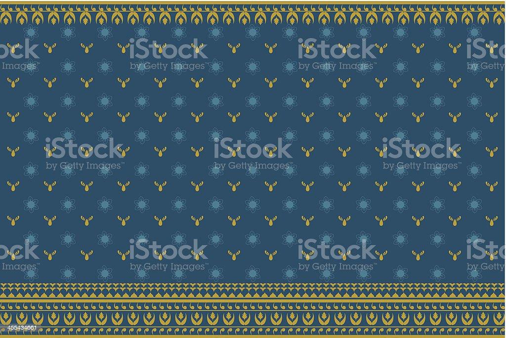 Traditional Indian Sari Print royalty-free stock vector art