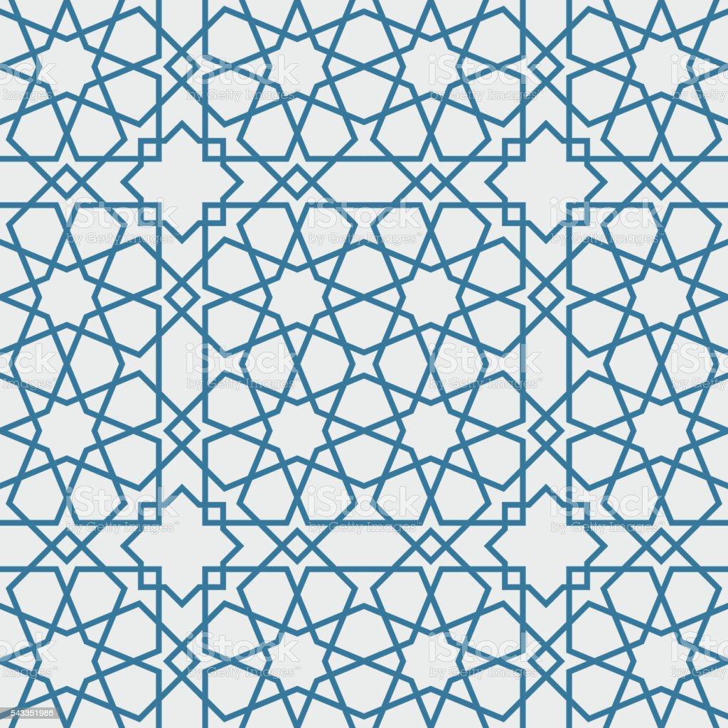 Traditional Islam Geometric pattern, seamless vector art illustration