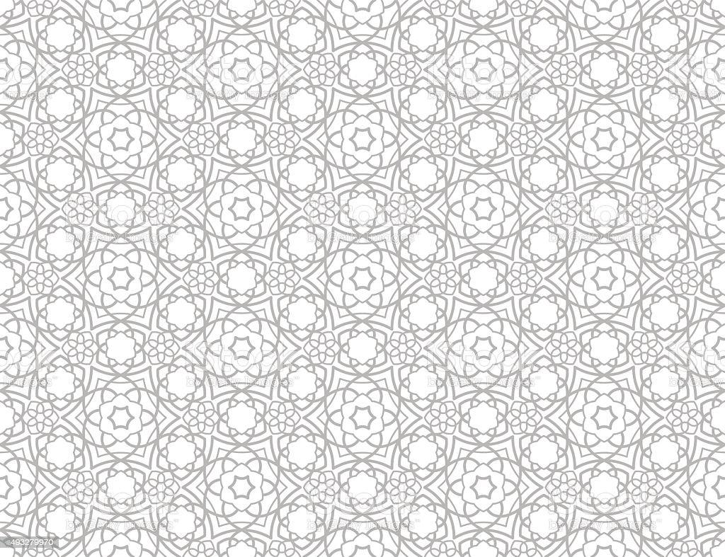 Traditional Islamic Pattern Stock Vector Art 493279970
