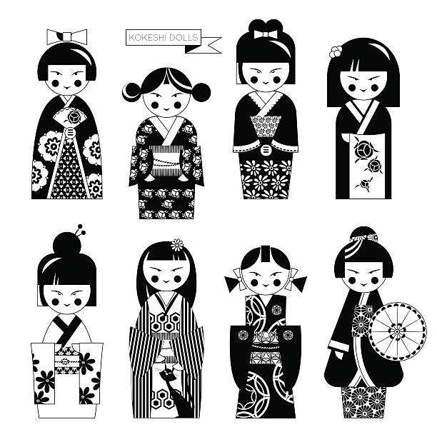 Royalty Free Japanese Doll Clip Art, Vector Images ...