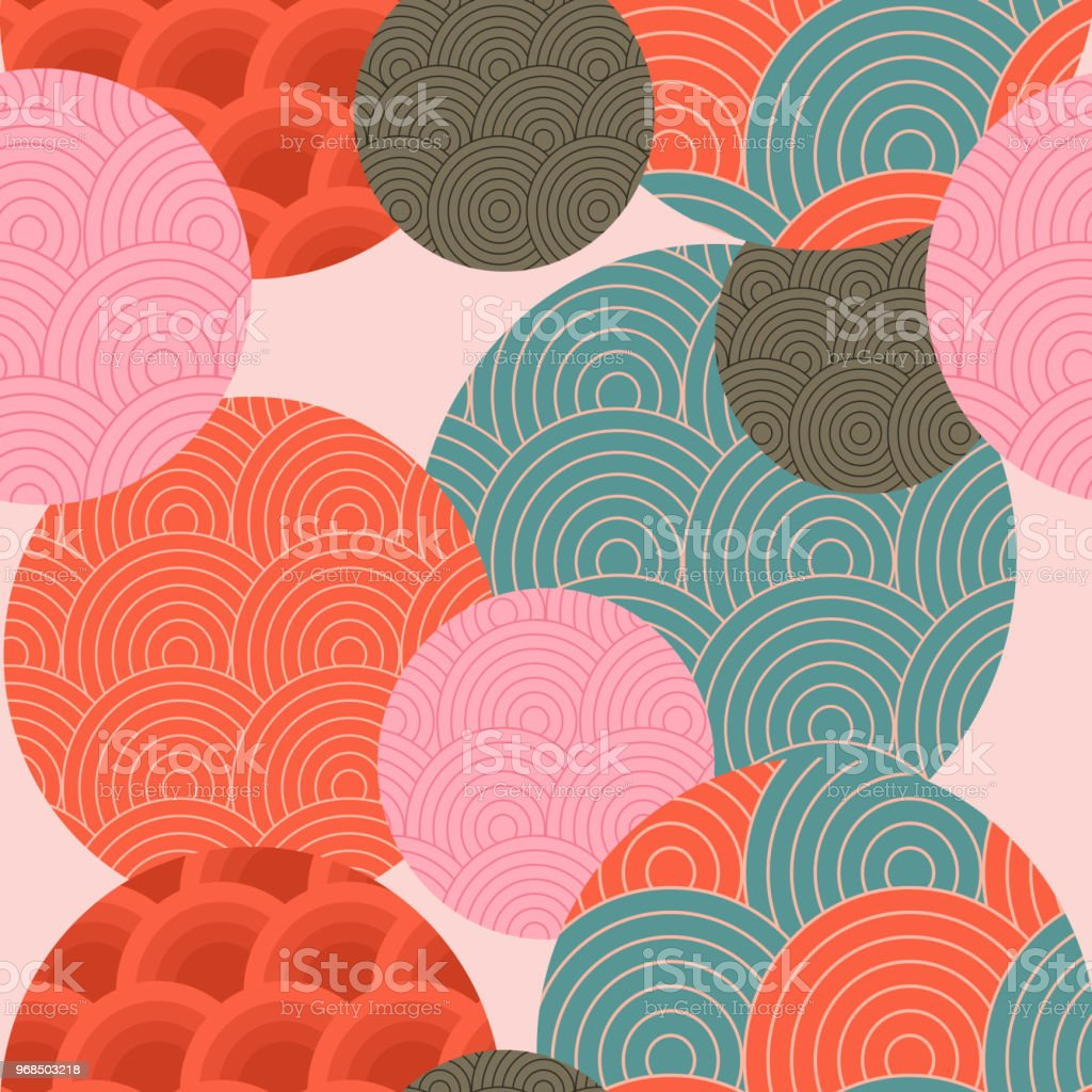 Traditional Japanese pattern. Seamless pattern. vector art illustration