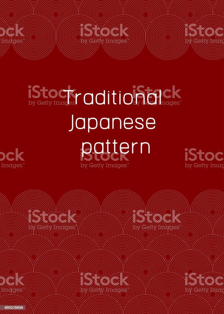 Traditional japanese pattern vector art illustration
