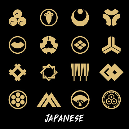 Traditional Japanese symbols and patterns