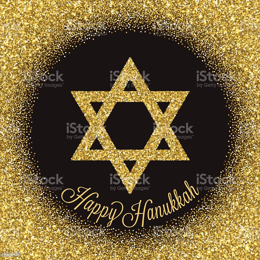 Traditional Jewish symbol. Happy Hanukkah greeting card. vector art illustration