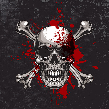 Traditional Jolly Roger design.