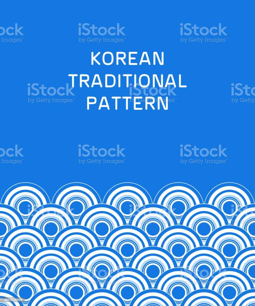 Traditional korean pattern vector art illustration