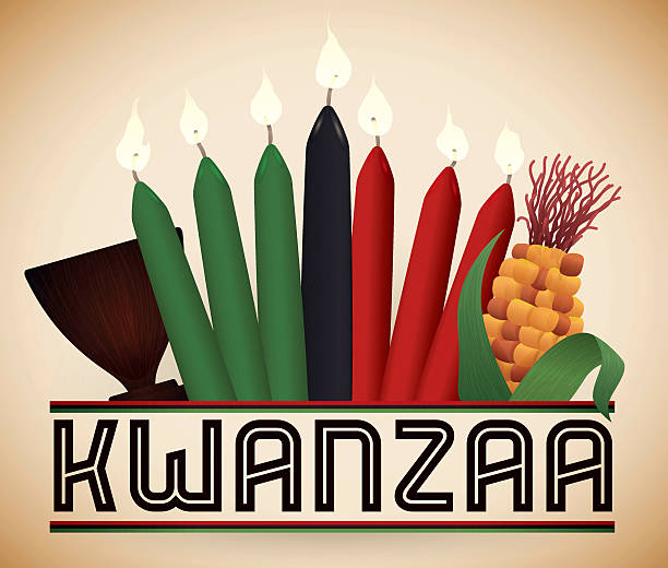 Kwanzaa éléments traditionnels - Illustration vectorielle